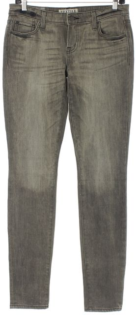 ELIZABETH AND JAMES Ash Gray Debbie Mid-Rise Skinny Jeans