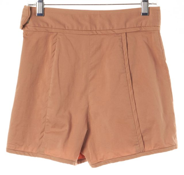 ELIZABETH AND JAMES Beige Side Zipped Casual Shorts