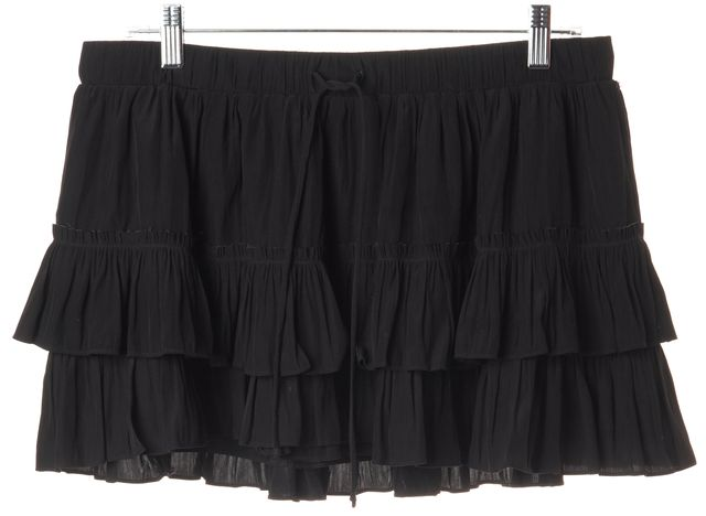 ELIZABETH AND JAMES Black MIni Tiered Skirt