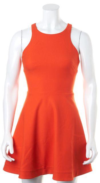 ELIZABETH AND JAMES Orange Sleeveless Racerback Fit & Flare Dress