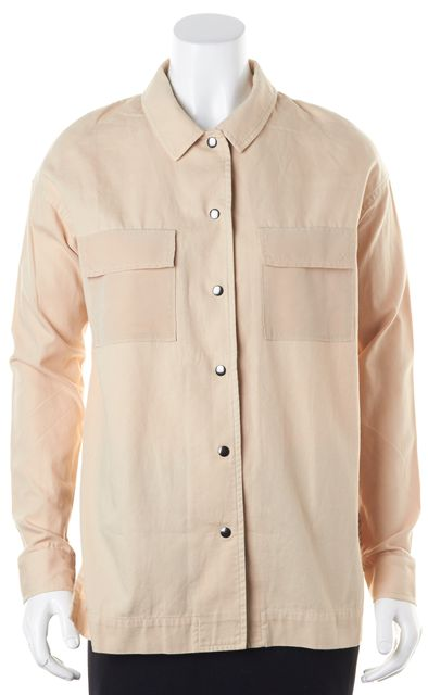 ELIZABETH AND JAMES Bark Beige Cotton Hayden Shirt Jacket