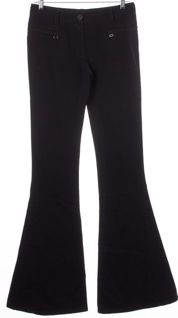 ELIZABETH AND JAMES Black Cotton Denim Baxley Flared Leg Pants Jeans