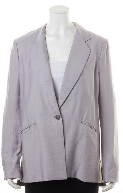 ELIZABETH AND JAMES Taupe Gray Textured One Button Blazer