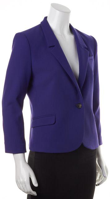 ELIZABETH AND JAMES Bright Purple Claudette Single Button Blazer