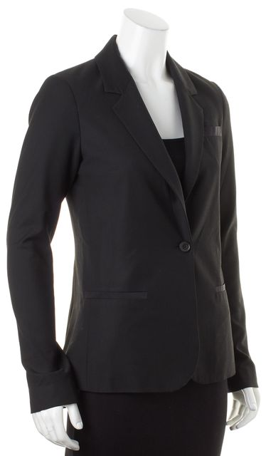 ELIZABETH AND JAMES Black Single Button Blazer Jacket