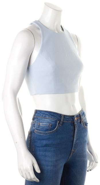 ELIZABETH AND JAMES Baby Blue Sleeveless Racerback Crop Top