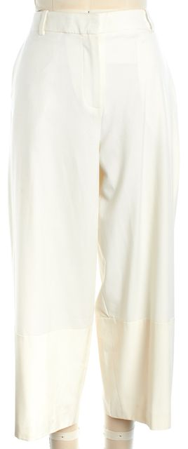 ELIZABETH AND JAMES White Cropped Wide Leg Trouser Pants