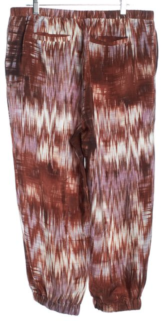 ELIZABETH AND JAMES Red Purple Silk Casual Capris Cropped Pants