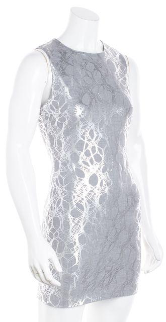 ELIZABETH AND JAMES Metallic Silver Gray Sleeveless Nadia Sheath Dress