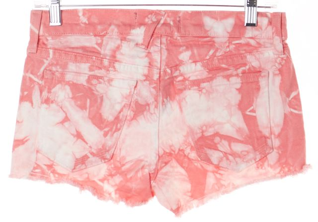 ELIZABETH AND JAMES Pink Abstract Robby Tie Dye Studded Denim Shorts