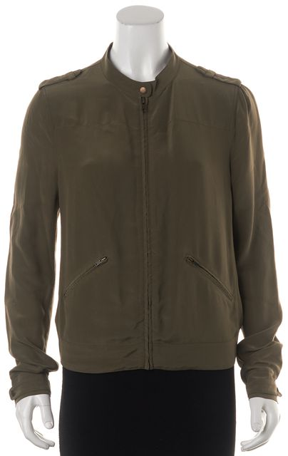 EDUN Army Green Zip Up Lightweight Blouson Bomber Jacket