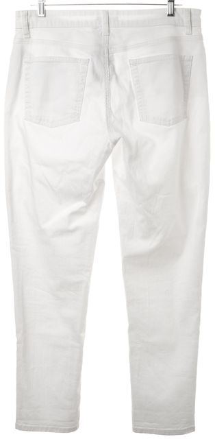EILEEN FISHER White Mid-Rise Stretch Skinny Leg Jeans Pants