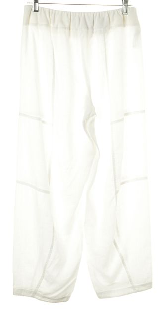 EILEEN FISHER White Linen Casual Pants