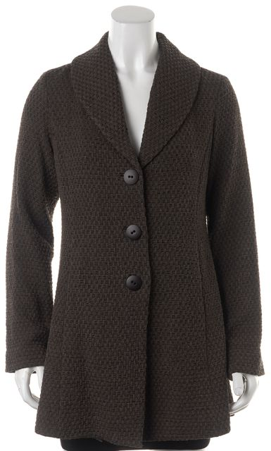 EILEEN FISHER Brown Geometric Jacket