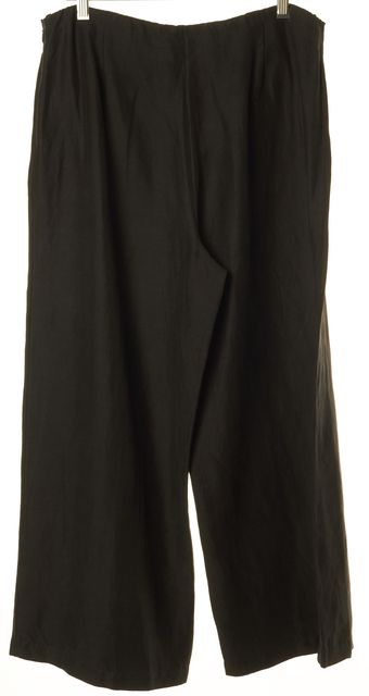 EILEEN FISHER Black Wide Leg Cropped Pants