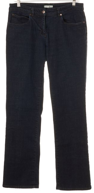 EILEEN FISHER Blue Dark Wash Mid-Rise Straight Leg Jeans