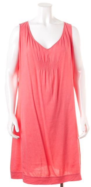 EILEEN FISHER Pink Sleeveless Knee-Length Linen Shift Dress