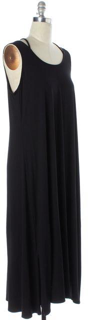 EILEEN FISHER Black Relaxed Fit Full Length Sleeveless Shift Dress