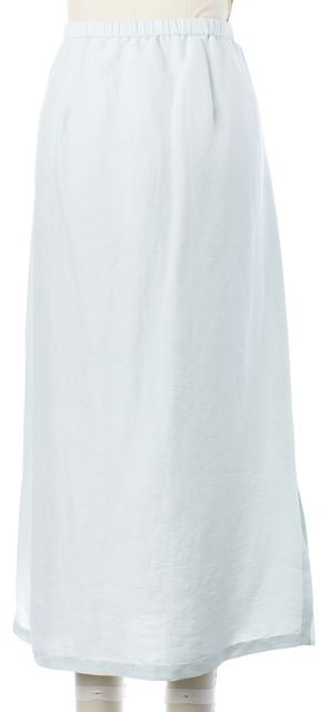 EILEEN FISHER Seafoam Green Silk Below Knee A-Line Skirt