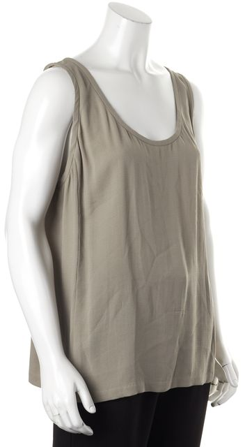 EILEEN FISHER Gray Silk Blouse Tank Top