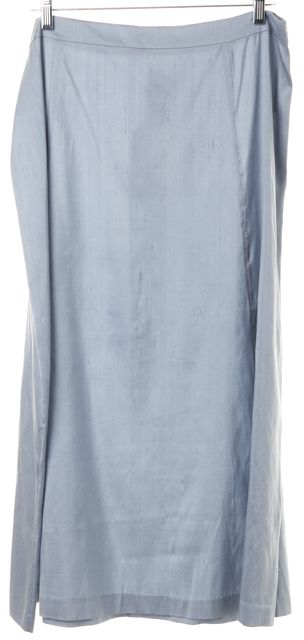 EILEEN FISHER Blue Bleu Raw Silk Maxi Gored Skirt