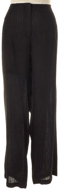 EILEEN FISHER Black Linen Cotton High-Rise Relaxed Fit Casual Pants