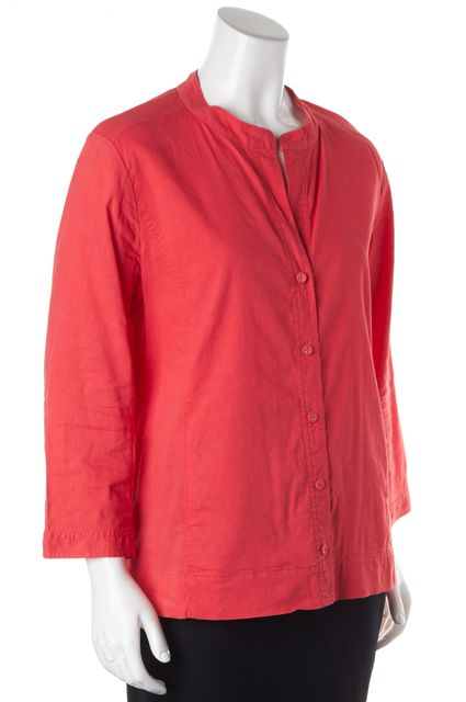 EILEEN FISHER Pink Linen Button Down Shirt