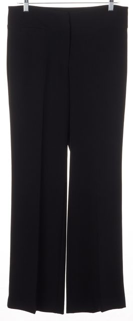 EILEEN FISHER Black Wide Leg No Pocket Polyester Dress Pants