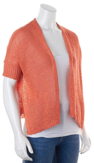 EILEEN FISHER Orange Perforated Knit Top