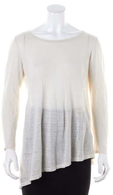 EILEEN FISHER Beige Linen Knit Top
