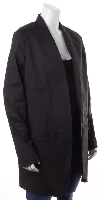 EILEEN FISHER Black Buttonless Pocket Front Basic Jacket