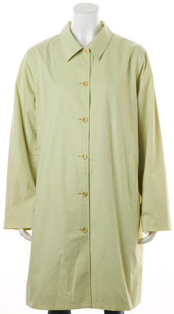 EILEEN FISHER Granny Apple Green Cotton Button Up Coat