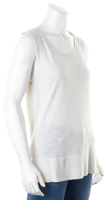 EILEEN FISHER Gray Sleeveless Scoop Neck Knit Top
