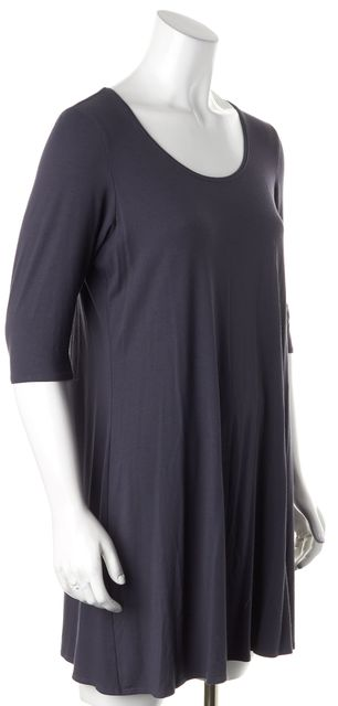 EILEEN FISHER Gray Jersey Stretch Dress