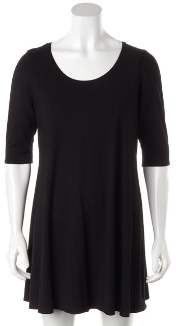 EILEEN FISHER Black Stretch Dress