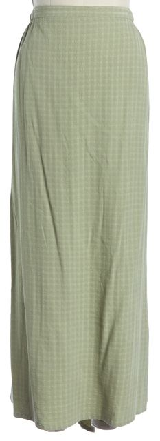EILEEN FISHER Green Textured Straight Skirt