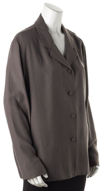 EILEEN FISHER Gray Silk Jacket