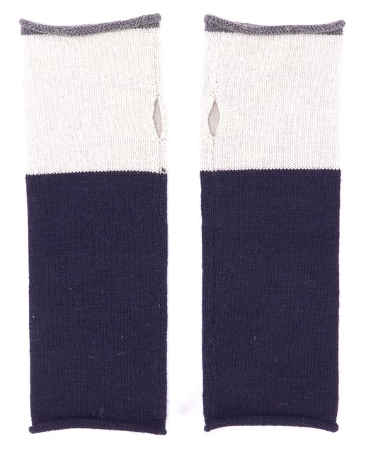 EILEEN FISHER Blue and Gray Fingerless Glovettes