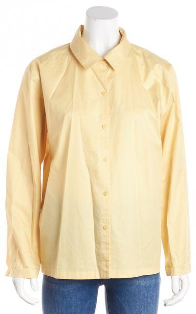 EILEEN FISHER Yellow Button Down Shirt Blouse