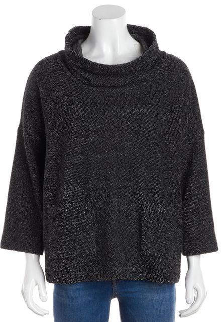 EILEEN FISHER Gray Wool Mock Sweater