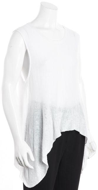EILEEN FISHER White Sweater Sleeveless Open Knit Top