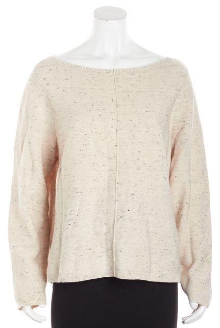 EILEEN FISHER Beige Crewneck Long Sleeve Sweater