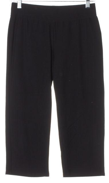 EILEEN FISHER Black Casual Stretch Capri Pants