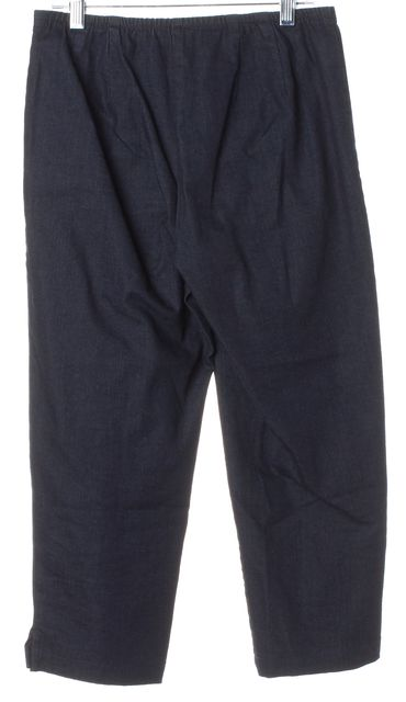 EILEEN FISHER Dark Blue Stretch Capri Jeans
