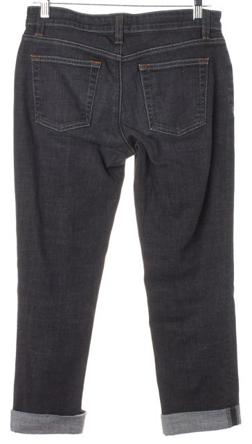 EILEEN FISHER Black Stonewash Relaxed Slim Fit Jeans