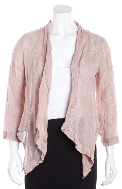 EILEEN FISHER Pink Collard Linen Jacket
