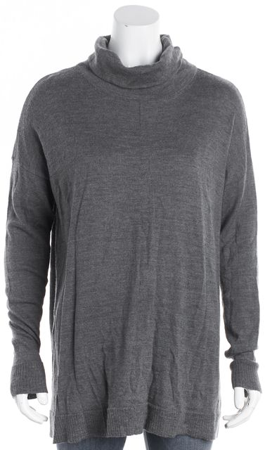 EILEEN FISHER Gray Flow Turtleneck Sweater