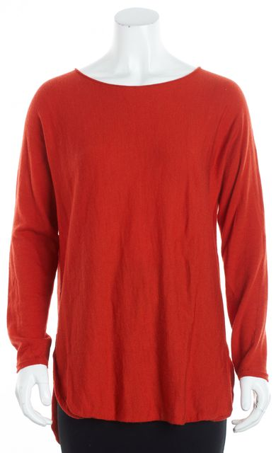 EILEEN FISHER Red Wool Crewneck Sweater