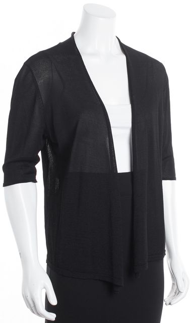 EILEEN FISHER Black Sheer Cardigan