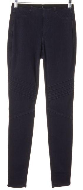 ELIE TAHARI Navy Blue Casual Moto Legging Pants